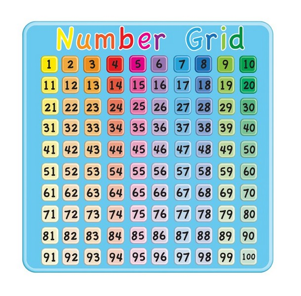 Number Grid Abc School Supplies